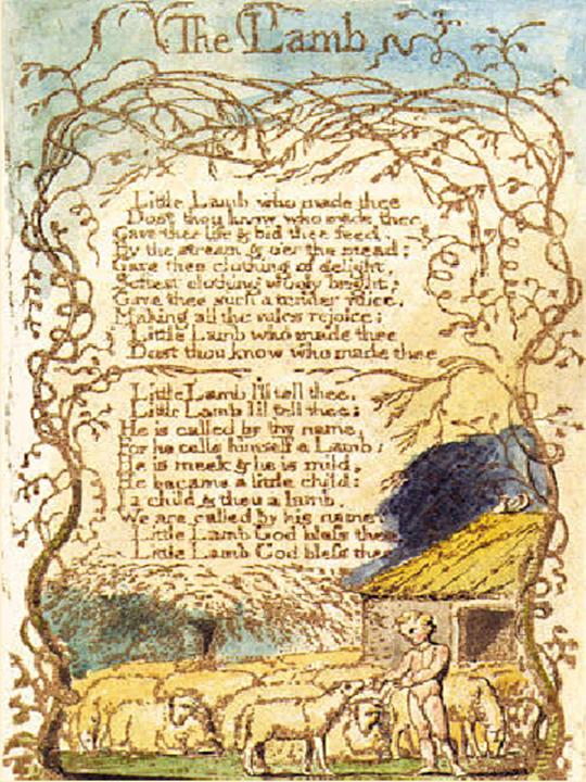 "william blake poems. William Blake: ""The Lamb"""